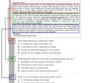 2級長文メール問題の構成